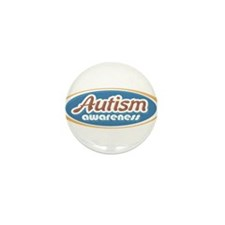 Autism Oval (MC1) Mini Button (100 pack)