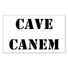 "Cave Canem ""Beware of Dog"" Rectangle Decal"