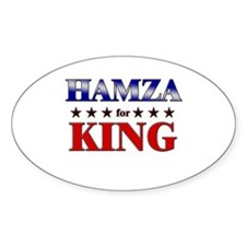 HAMZA for king Oval Decal