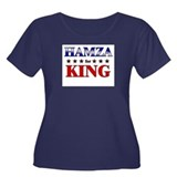 HAMZA for king Women's Plus Size Scoop Neck Dark T
