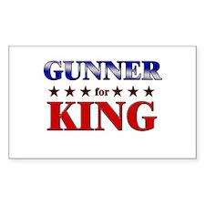 GUNNER for king Rectangle Decal