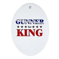 GUNNER for king Oval Ornament