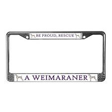 Weimaraner License Plate Frame 2
