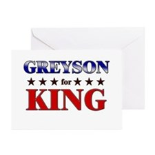 GREYSON for king Greeting Cards (Pk of 20)
