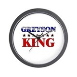 GREYSON for king Wall Clock