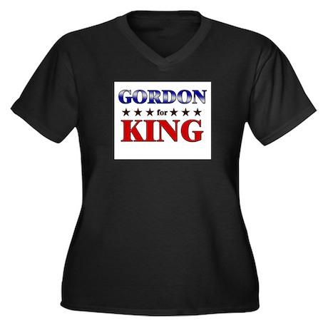 GORDON for king Women's Plus Size V-Neck Dark T-Sh