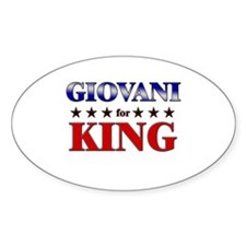 GIOVANI for king Oval Decal