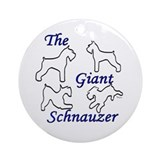 the giant schnauzer bymw Keepsake (Round)