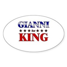 GIANNI for king Oval Decal