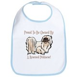 Proudly Owned By A Rescued Pekingese Bib