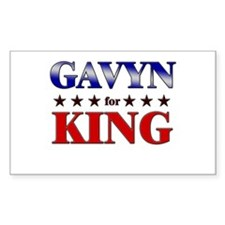 GAVYN for king Rectangle Decal