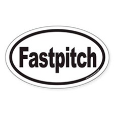 Fastpitch Euro Oval Decal
