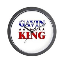 GAVIN for king Wall Clock