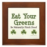 Eat Your Greens Shamrock Framed Tile
