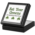 Eat Your Greens Shamrock Keepsake Box