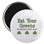 Eat Your Greens Shamrock Magnet