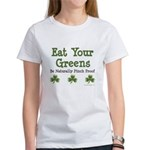Eat Your Greens Shamrock Women's T-Shirt