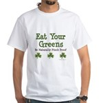 Eat Your Greens Shamrock White T-Shirt