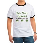 Eat Your Greens Shamrock Ringer T