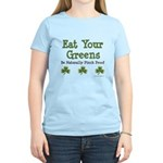 Eat Your Greens Shamrock Women's Light T-Shirt