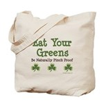 Eat Your Greens Shamrock Tote Bag