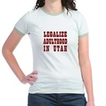 LEGALIZE ADULTHOOD IN UTAH Jr. Ringer T-Shirt