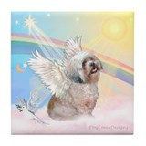 Clouds / Lhasa Apso Tile Coaster