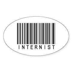 Internist Barcode Oval Sticker