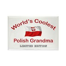 Coolest Polish Grandma Rectangle Magnet