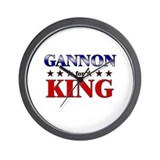 GANNON for king Wall Clock