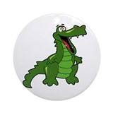 Happy Alligator Ornament (Round)