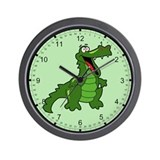 Happy Alligator Wall Clock