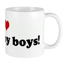 I Love my rugby boys! Mug