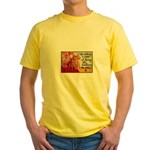 Knitting Fashion - Yarn Yellow T-Shirt