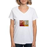Knitting Fashion - Yarn Women's V-Neck T-Shirt