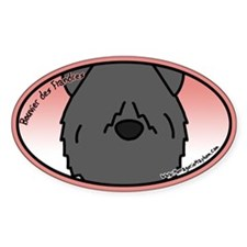 Anime Bouvier des Flandres Oval Decal