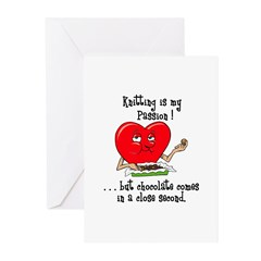Knitting and Chocolate Greeting Cards (Pk of 20)