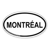 Montr&#233;al Oval Bumper Stickers