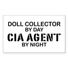 Doll Collector CIA Agent Rectangle Decal