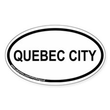 Quebec City Oval Decal