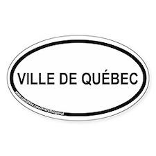 Ville De Québec Oval Decal