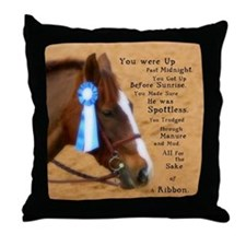 All For A Ribbon Horse Throw Pillow