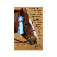 All For A Ribbon Horse Rectangle Magnet (10 pack)