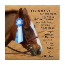 All For A Ribbon Horse Tile Coaster
