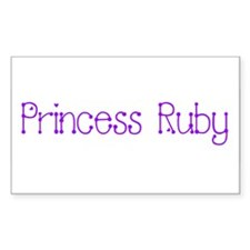 Princess Ruby Rectangle Decal