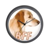 bff golden Wall Clock