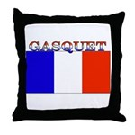 Gasquet France Flag Throw Pillow