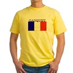 Gasquet France Flag Yellow T-Shirt
