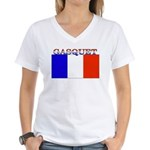 Gasquet France Flag Women's V-Neck T-Shirt