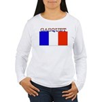 Gasquet France Flag Women's Long Sleeve T-Shirt